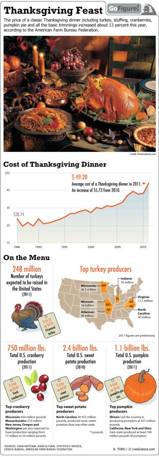 That turkey and stuffing just got more expensive. Gofigure looks at the price of the traditional American holiday meal.
