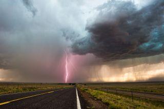 storm, thunderstorm, rain, lightning