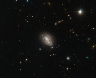 Hubble Spies Double Galaxy