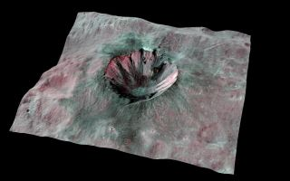 Dark Streaks on Huge Asteroid Vesta