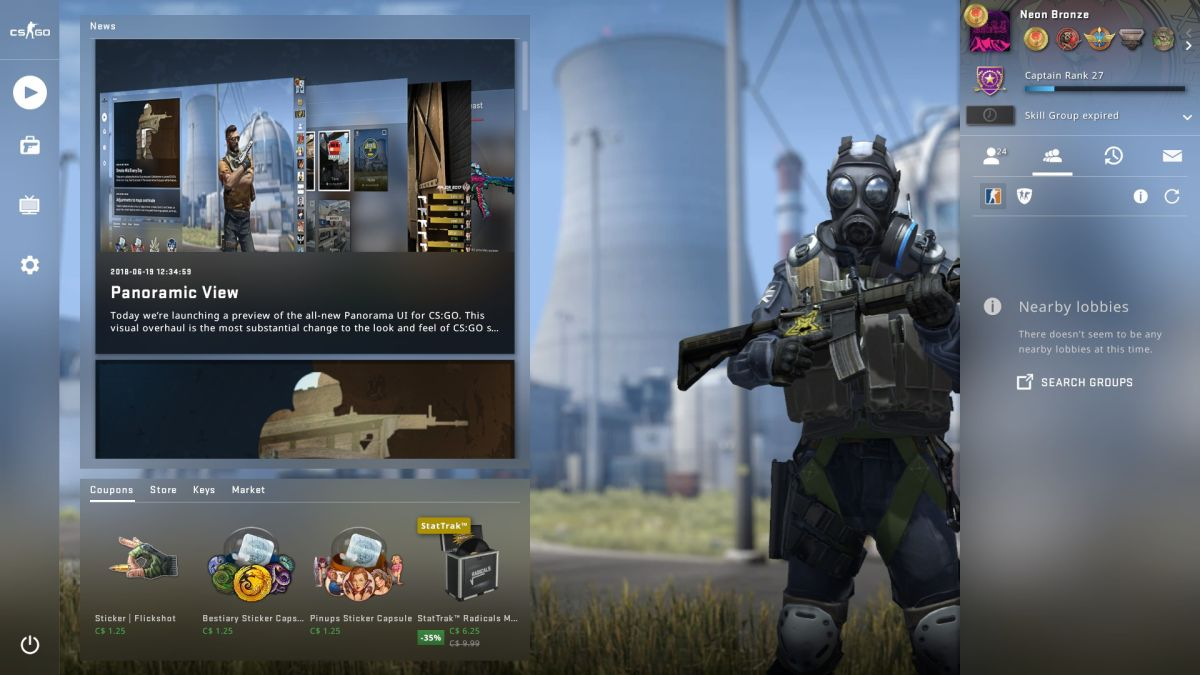 CS:GO's UI update is a needed upgrade