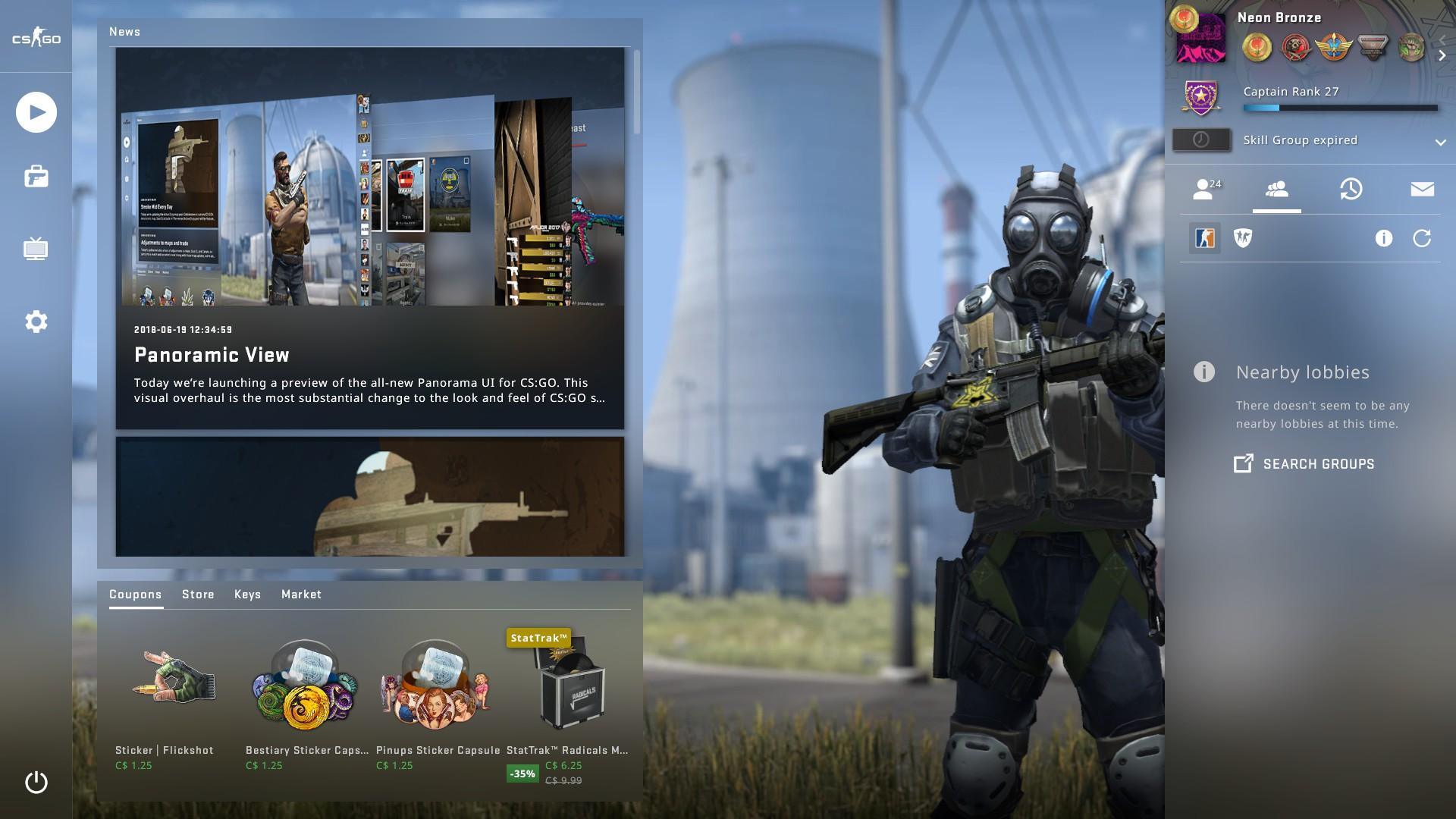 CS:GO's UI update is a needed upgrade | PC Gamer