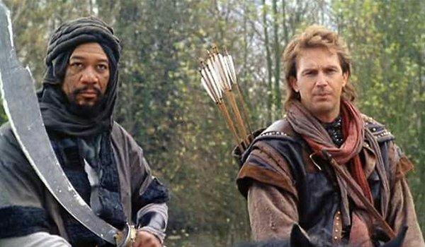 Morgan Freeman and Kevin Costner in Robin Hood: Prince Of Thieves