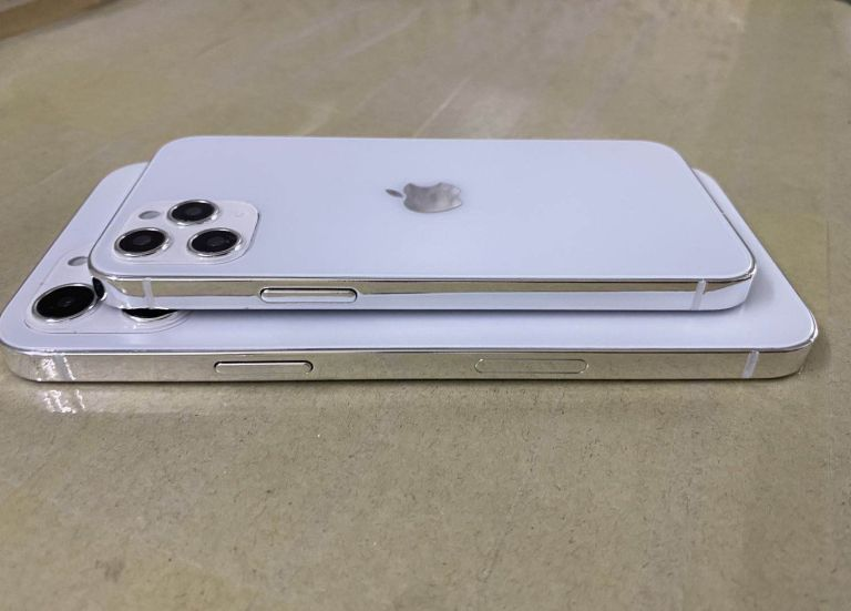 The iPhone 12 dummy unexpectedly shows three cameras
