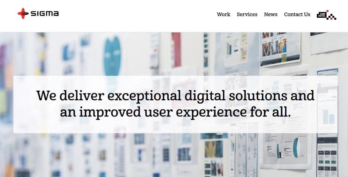 Sigma homepage