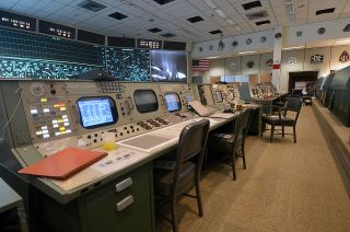 NASA's Apollo-era Mission Operations Control Room at Johnson Space Center in Houston has been restored to how it looked when the first astronauts landed on the moon.