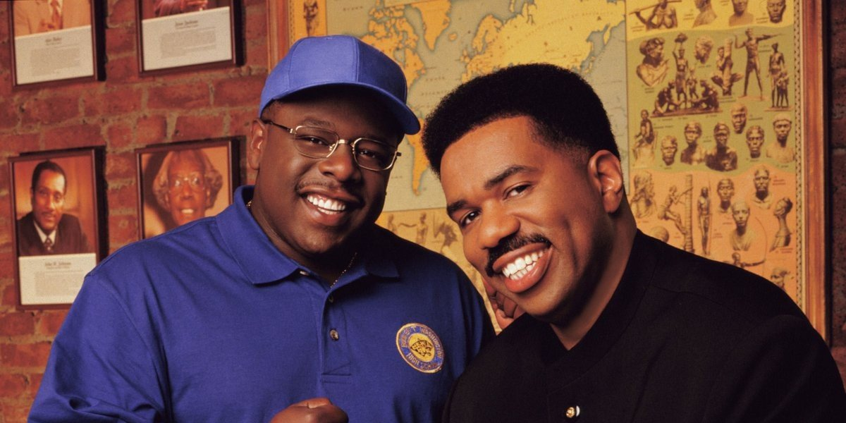 Cedric the Entertainer on the left, Steve Harvey on the right