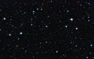 This picture shows a region of the sky known as the COSMOS field in the constellation of Sextans (The Sextant).