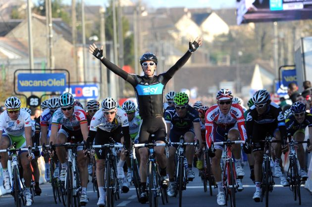 Greg Henderson wins, Paris-Nice 2011, stage two