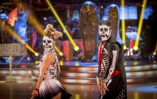 Halloween Steve Backshall and Ola Jordan