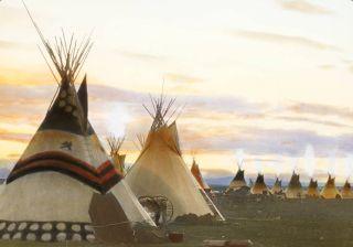 Blackfeet tipis