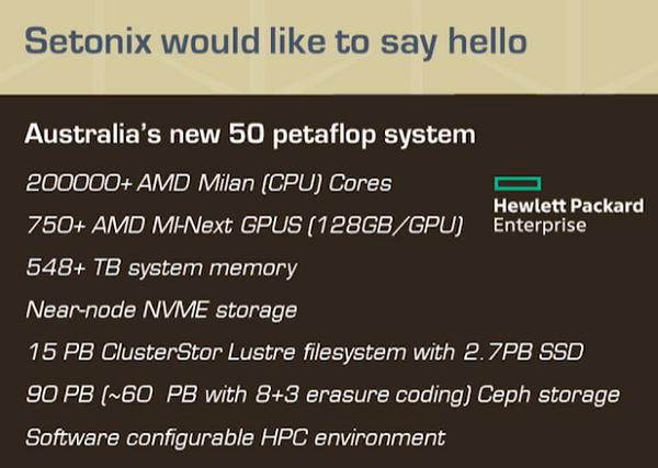 AMD's New MI200 128GB GPUs Will Power Setonix Supercomputer