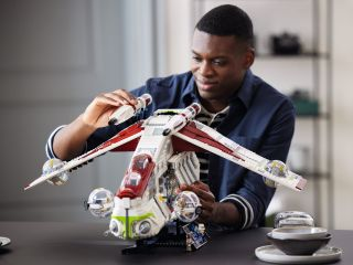 """Lego released its new """"Star Wars"""" Republic Gunship building set on Aug. 1, 2021."""