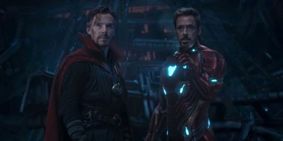 Doctor Strange and Iron Man in Infinity War
