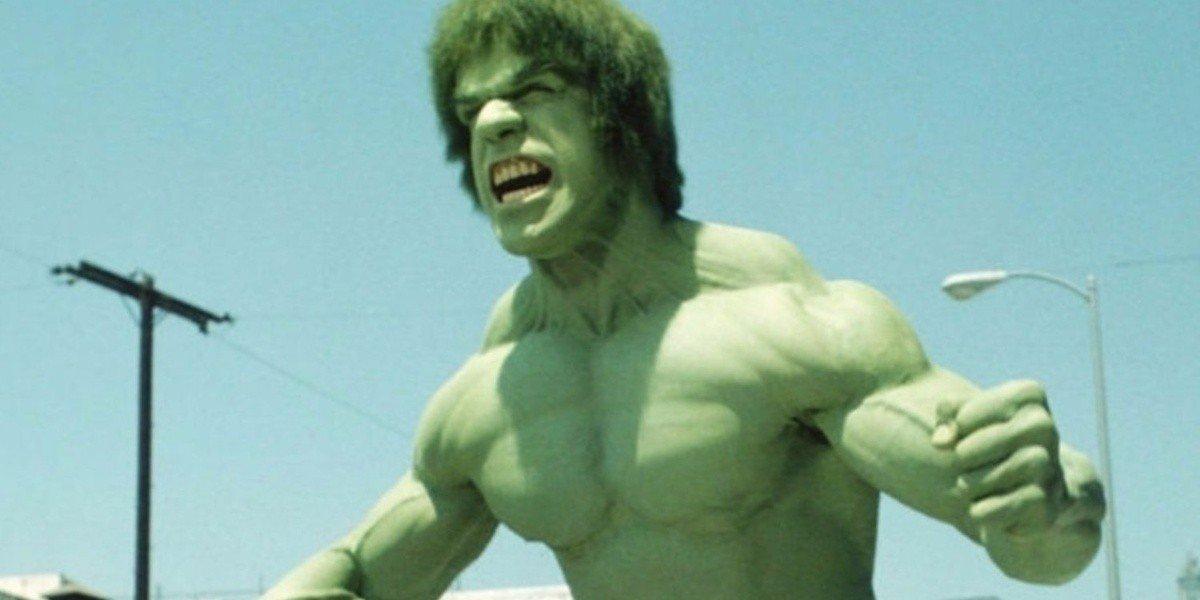 Lou Ferrigno as the Hulk on The Incredible Hulk