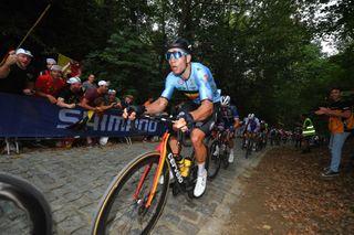 Wout van Aert (Belgium) in the elite men's road race at the 2021 World Championships