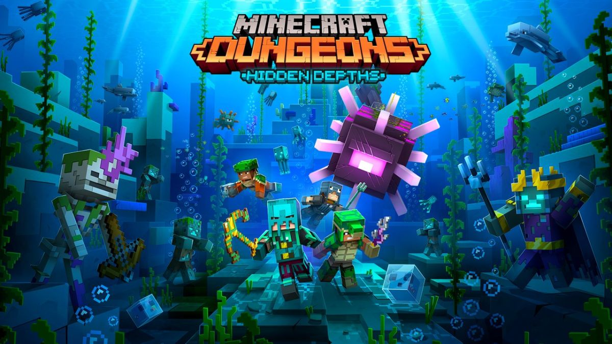 Minecraft Dungeons Hidden Depths DLC takes us into the ocean later this month