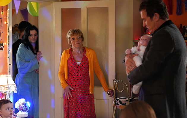 EastEnders Alfie Moon meets his baby