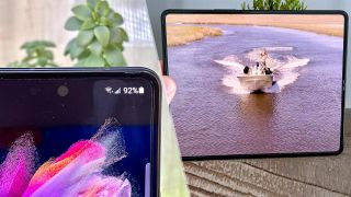 Samsung Galaxy Z Fold 3 under display camera