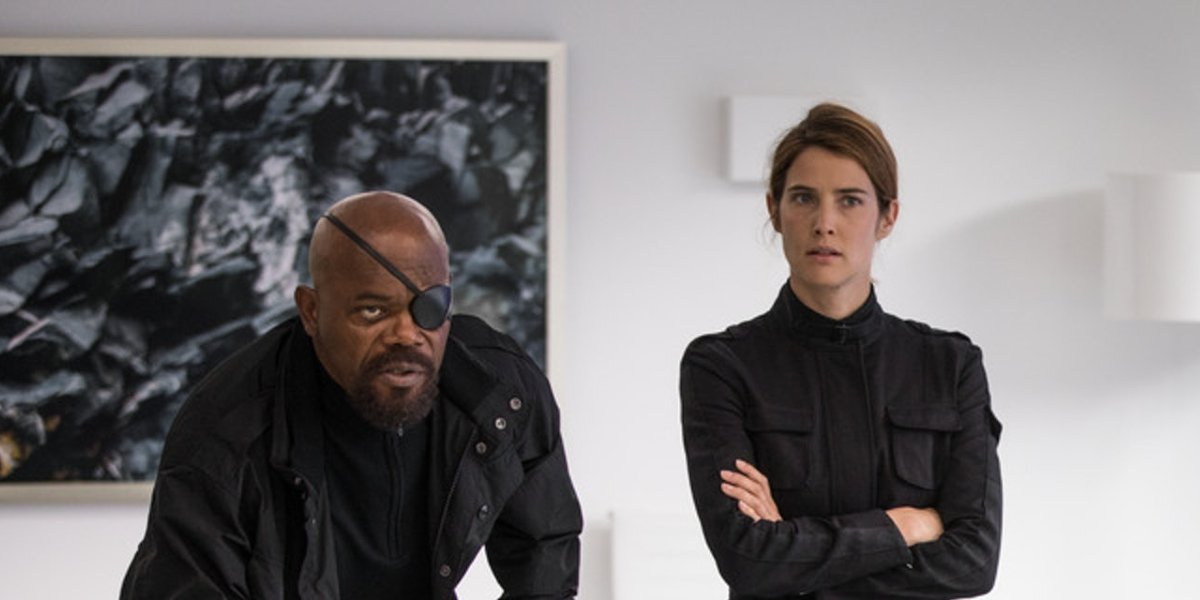 Samuel L. Jackson and Cobie Smulders in Spider-Man: Far From Home