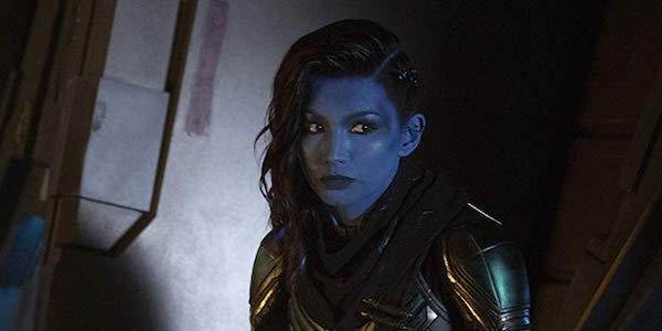 Gemma Chan as Minn-Erva in Captain Marvel