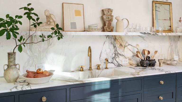 roost episode 6 - marble worktop in a contemporary kitchen - Credit Future