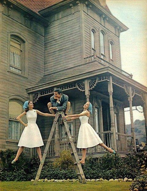 Anthony Perkins Psycho Ladder