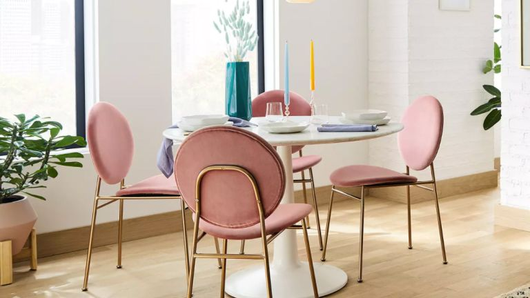 John Lewis sale: west elm Ingrid Dining Chairs around table in home