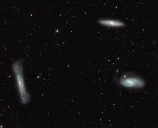 Galaxy Triplet in the Constellation of Leo