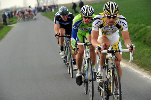 Bernhard Eisel escape, Tour of Flanders 2010