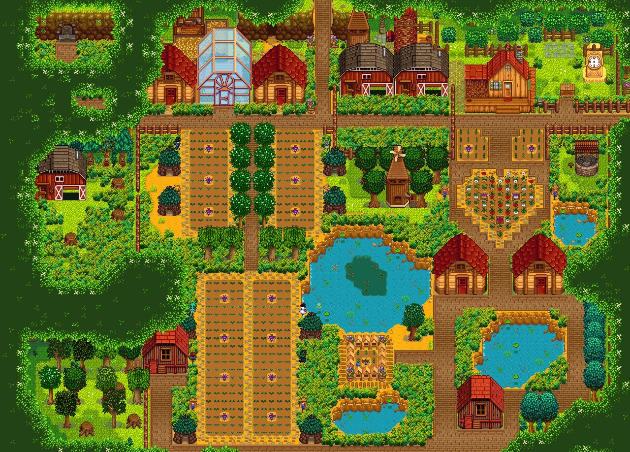 Let S All De Stress For A Minute By Looking At Beautiful Stardew Valley Farms Pc Gamer