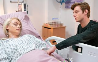 Daniel Osbourne lies to Sinead about their new son's bowel condition.