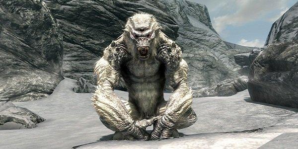 Skyrim ice troll