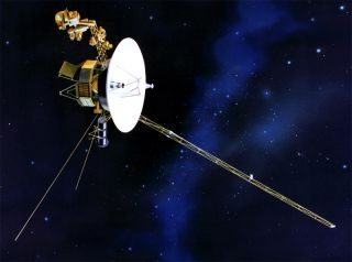 An artist's illustration of NASA's Voyager 1 spacecraft.