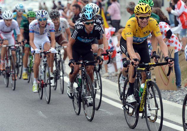 Bradley Wiggins leads, Tour de France 2012, stage 17