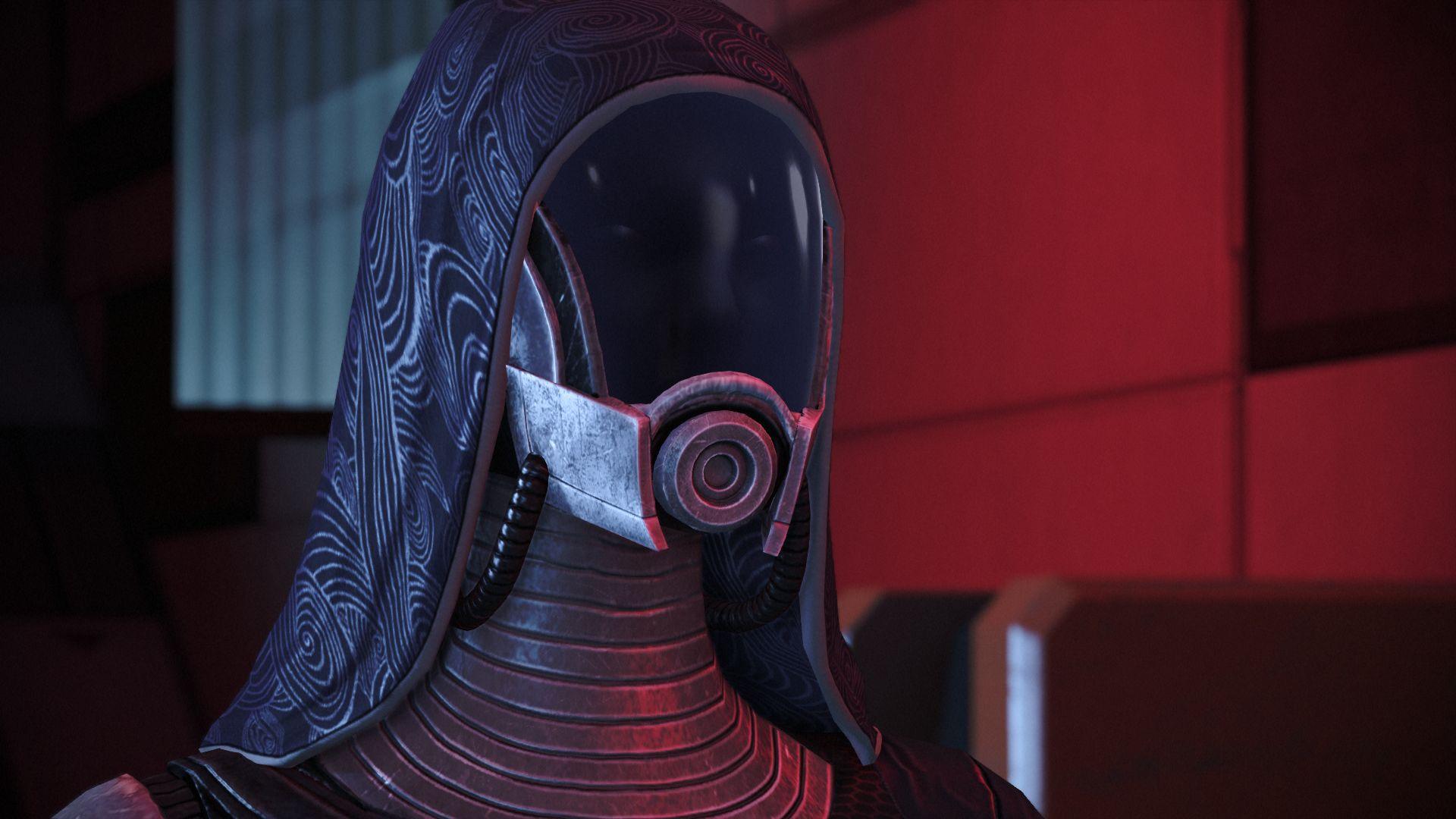 Tali in her helmet