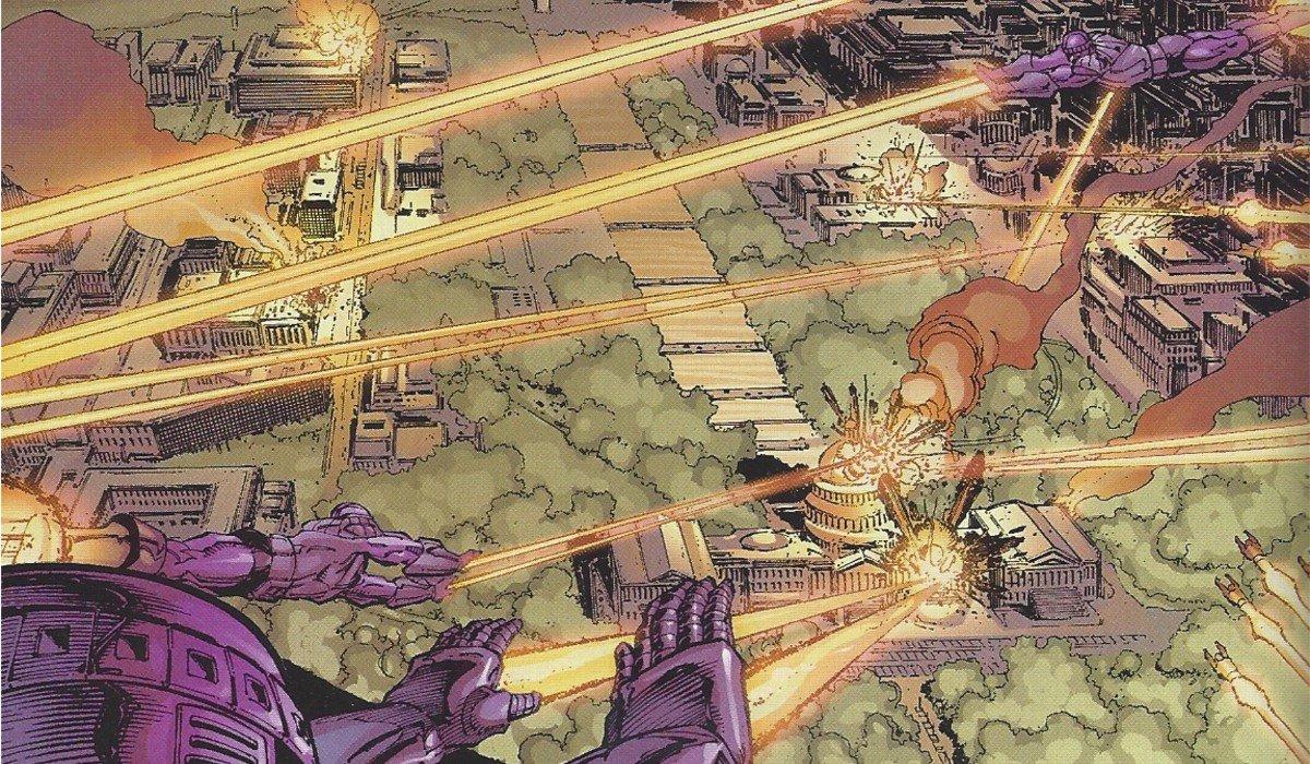 Washington D.C. under attack Marvel Comics