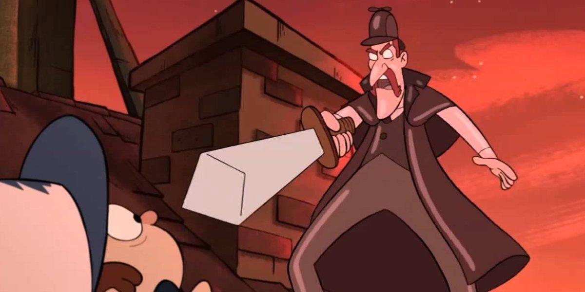 John Oliver as Wax Sherlock Holmes on Gravity Falls