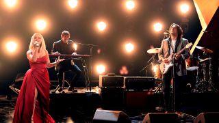 Maren Morris and John Mayer at the 2021 Grammys