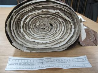 Tax record parchment roll