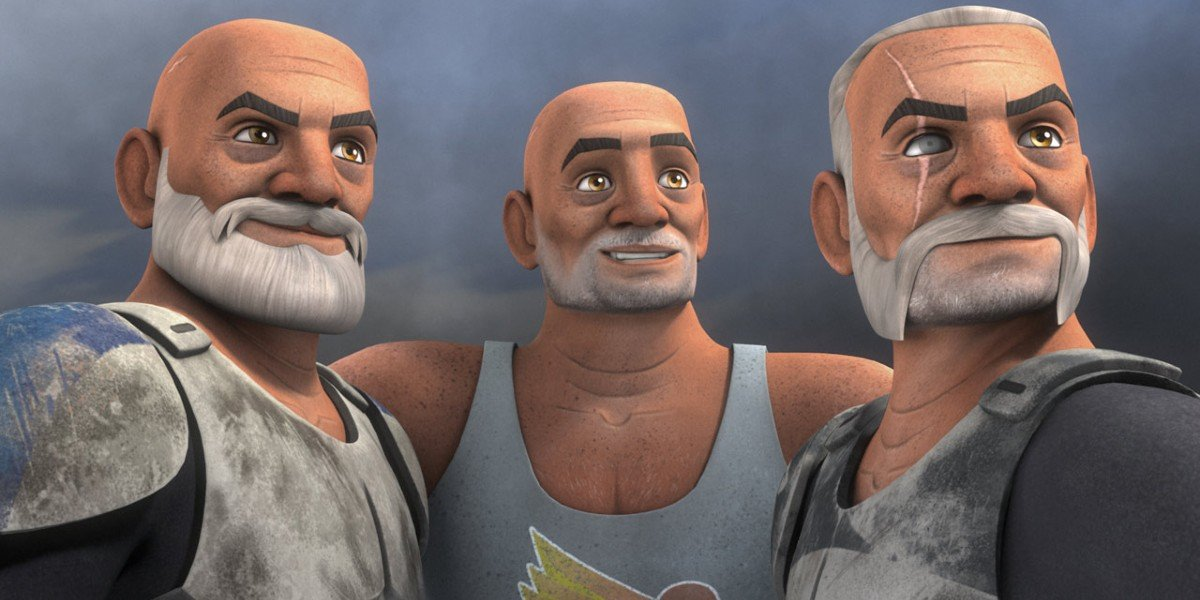 Rex, Gregor and Wolfe in Star Wars Rebels