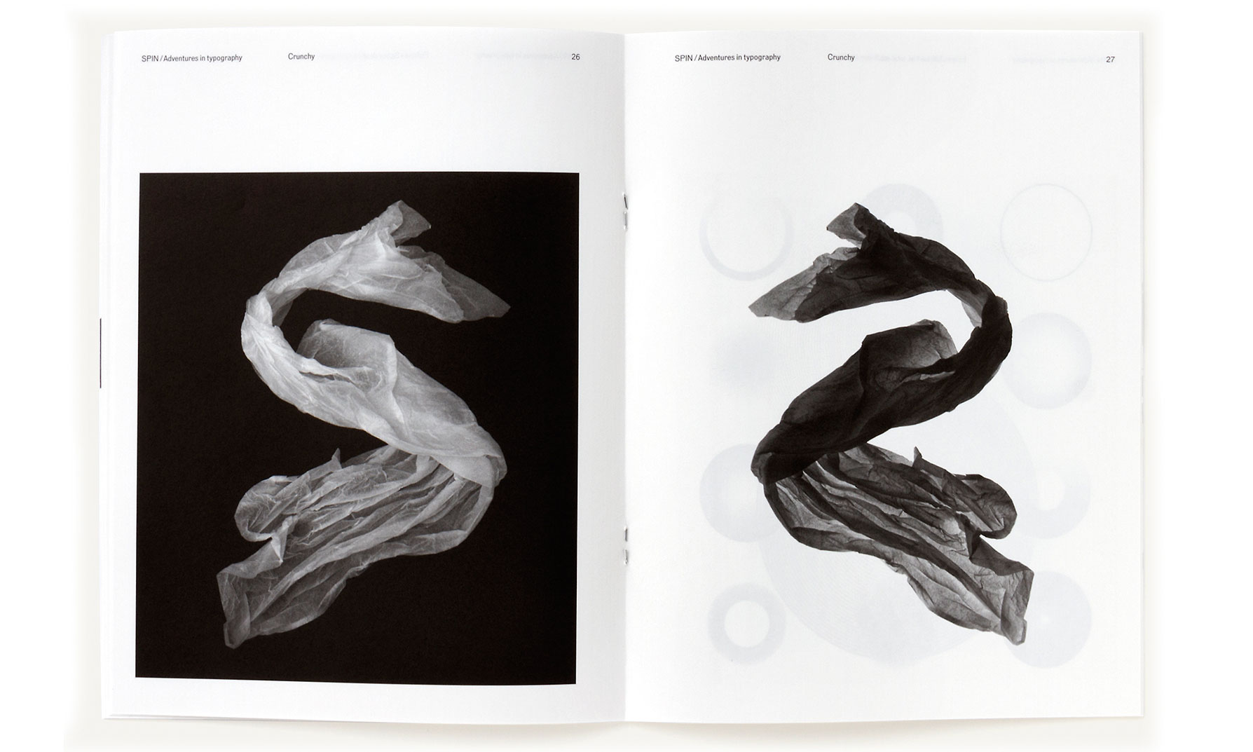 SPIN/Adventures in Typography spread