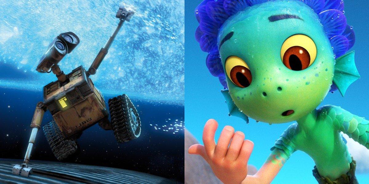 WALL-E and Luca Pixar movies