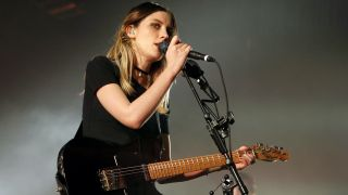 Ellie Rowsell of Wolf Alice performs at O2 Forum Kentish Town on March 26, 2016 in London, England