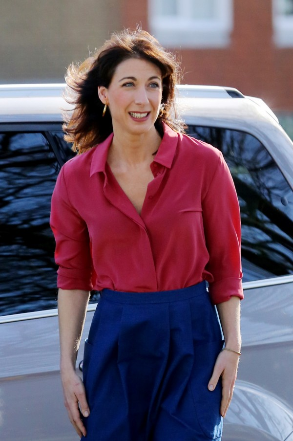 Samantha Cameron arrives for a visit to Abbey Court School in Rainham, Kent, on her first solo appearance in this year's General Election campaign trail. (Gareth Fuller/PA Wire)