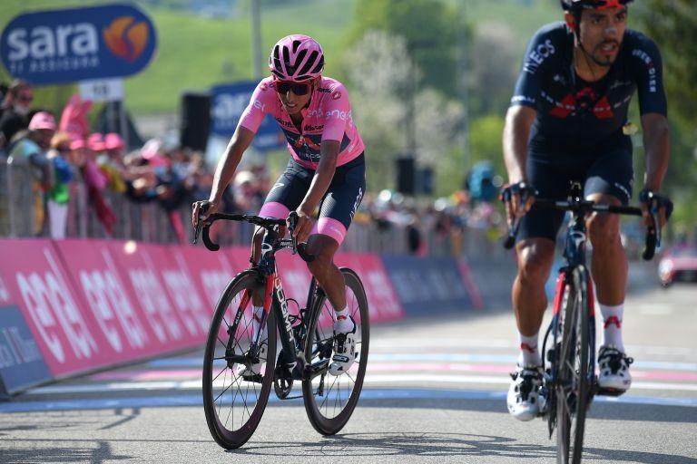 Egan Bernal on stage 17 of the 2021 Giro d'Italia