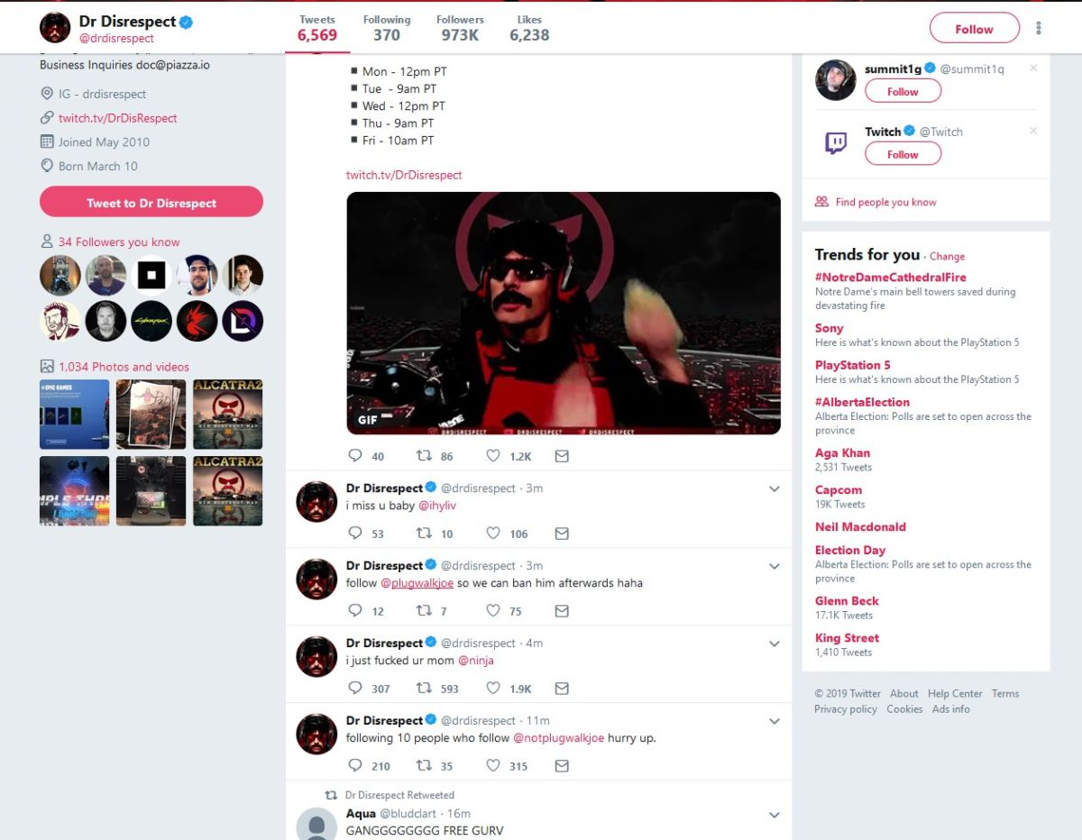 DrDisrespect's Twitch and Twitter accounts were hacked | PC