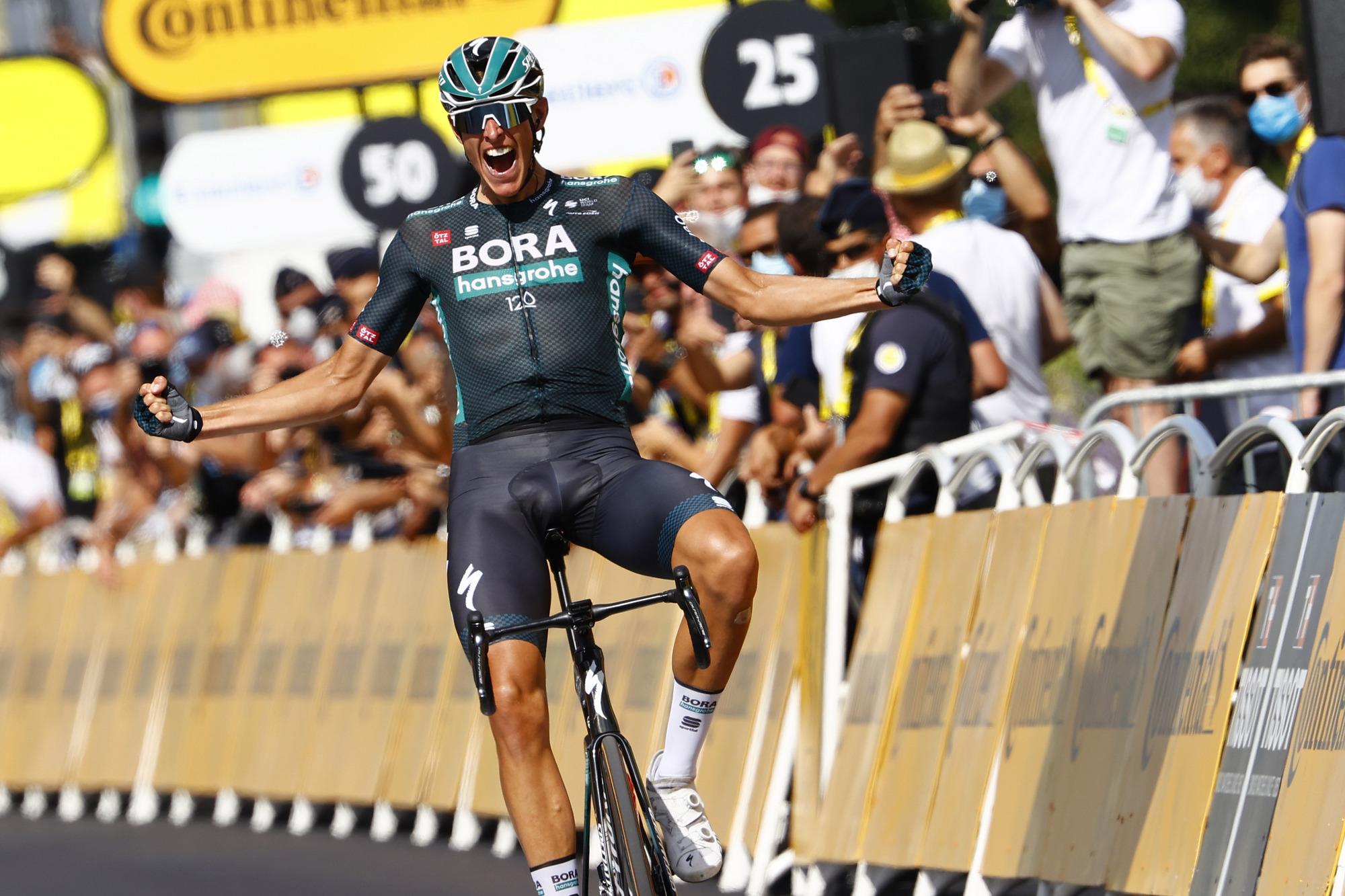 Tour de France 2021 - 108th Edition - 12th stage Saint-Paul-Trois-Chateaux - Nimes 159.4 km - 07/07/2021 - Nils Politt (GER - Bora - Hansgrohe) - photo Luca Bettini/BettiniPhoto©2021