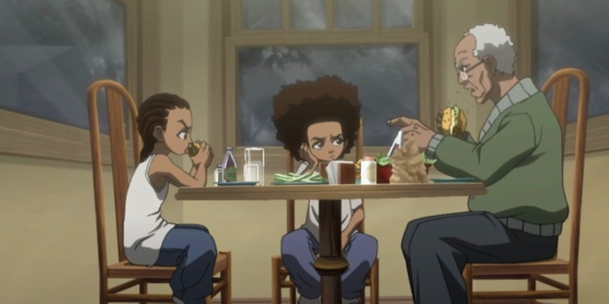 The Boondocks screencap featuring Regina King and John Witherspoon