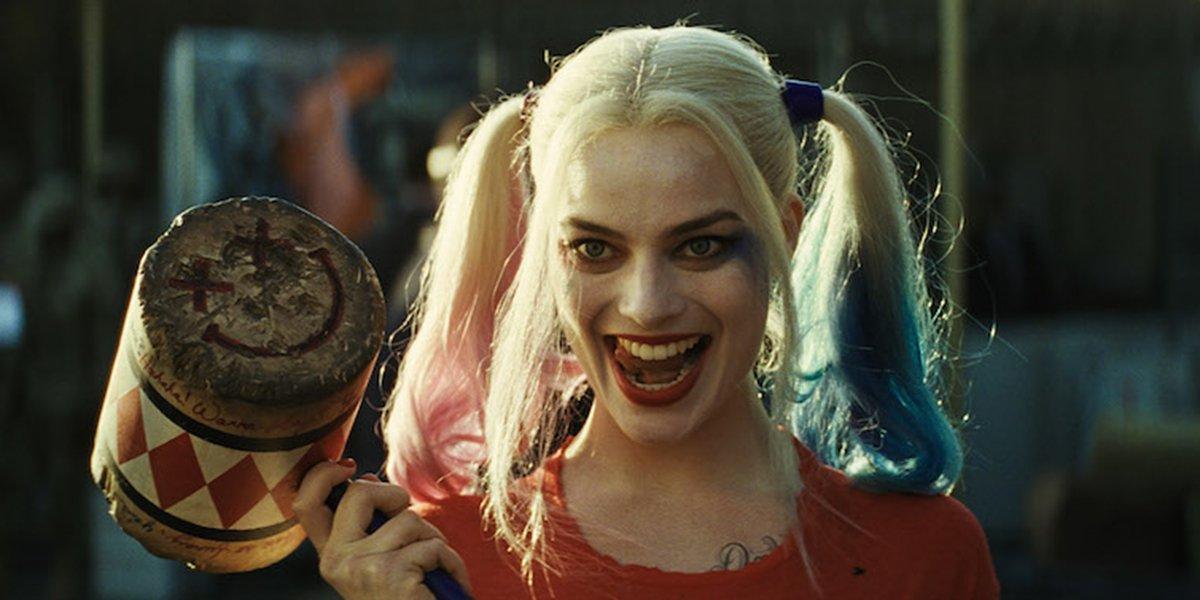 Harley Quinn wielding her hammer